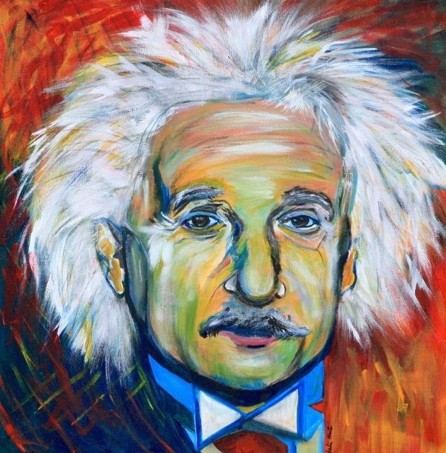 Picture of Albert Einstein by Marilyn Huerta