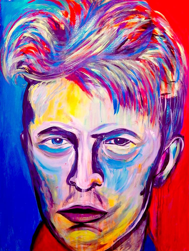 Picture of David Bowie by Marilyn Huerta