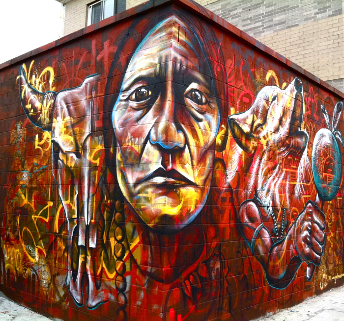 Picture of Chief Sitting Bull, Mural in Brooklyn, 2012