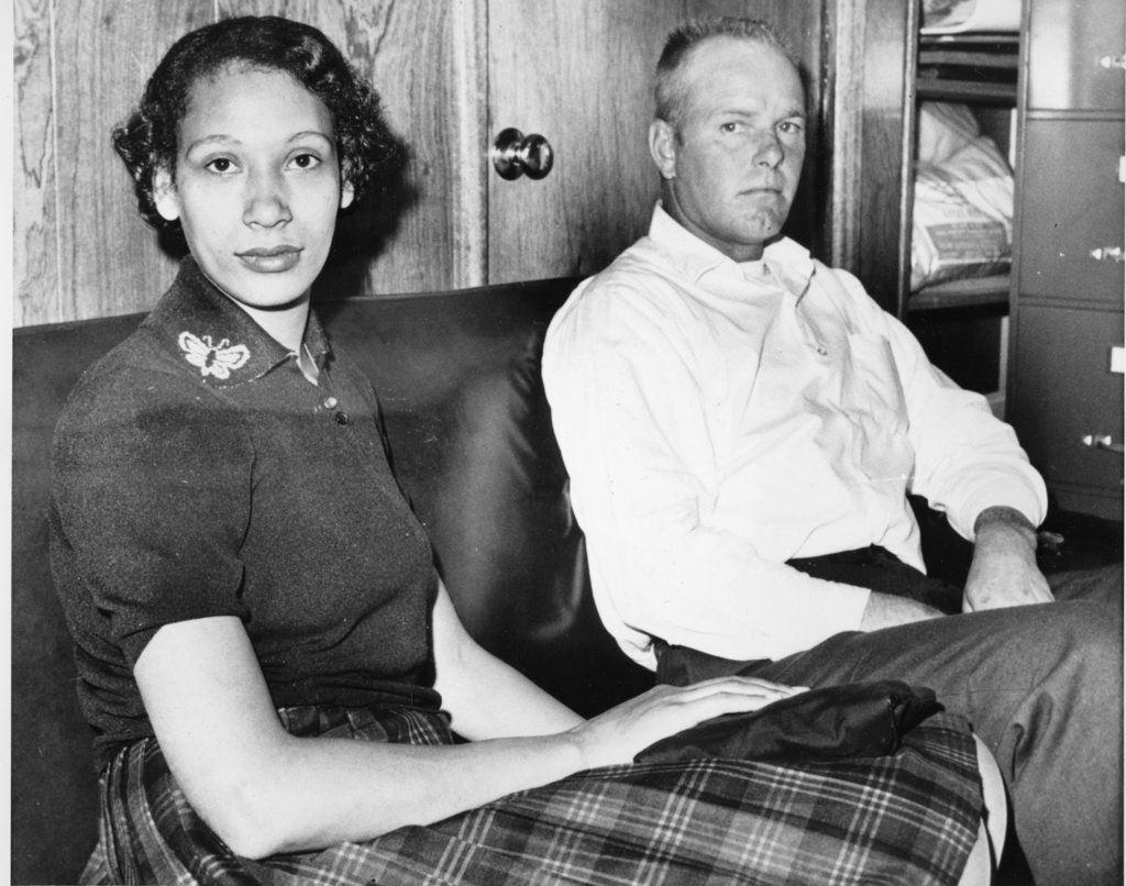 Mildred Loving and her husband Richard P Loving
