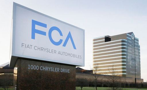 A sign outside Fiat Chrysler Automobiles world headquarters