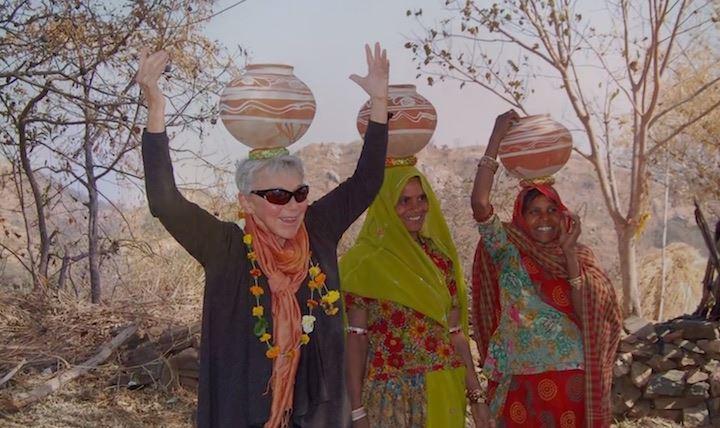 Eva Haller in India