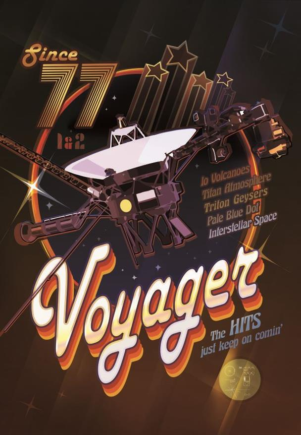 Picture of NASA Voyager Disco Poster