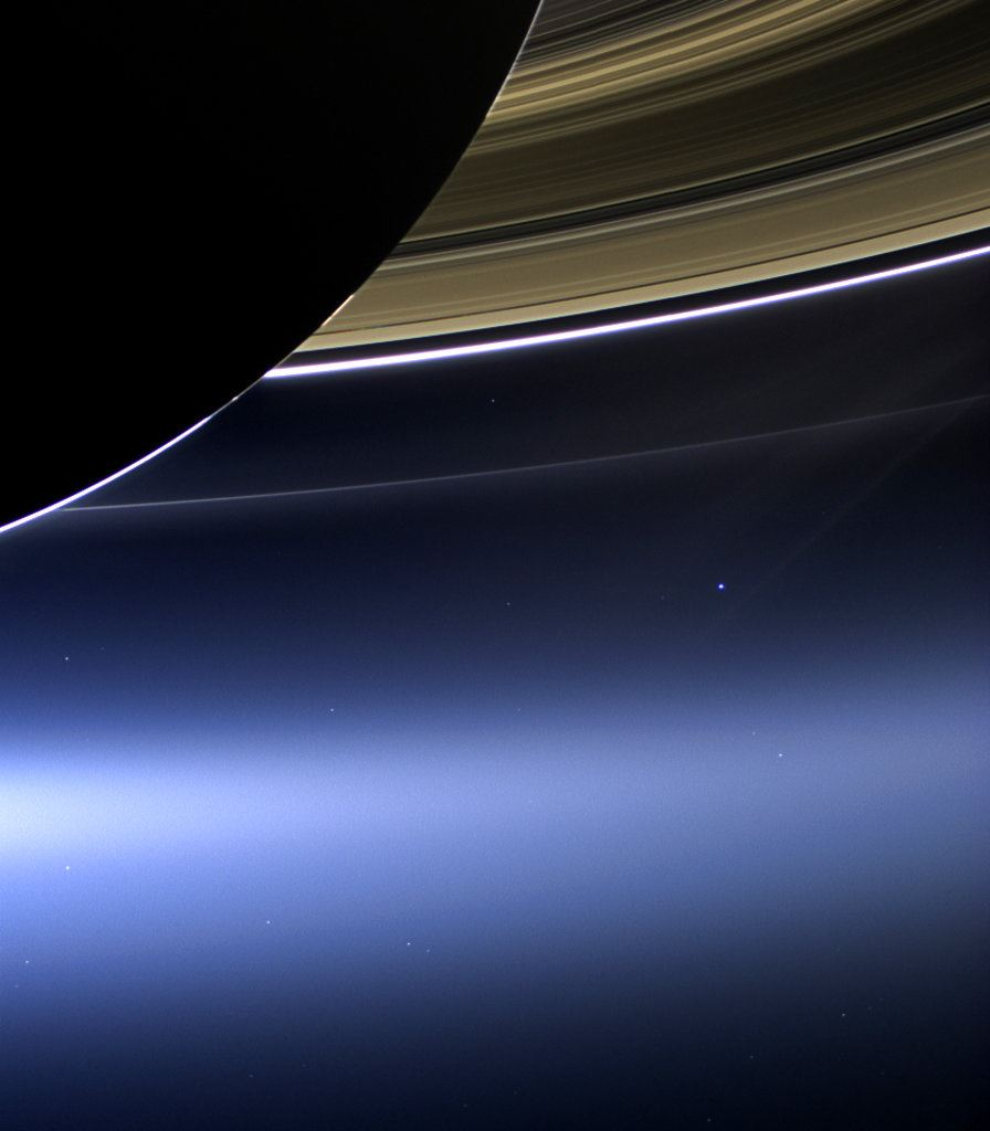 Picture of The Latest: NASA's Cassini spacecraft burns up over Saturn