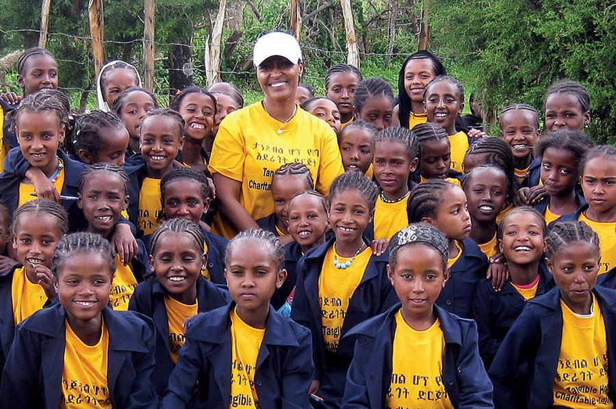 Picture of After she returned to her Ethiopian hometown, she had to help the girls