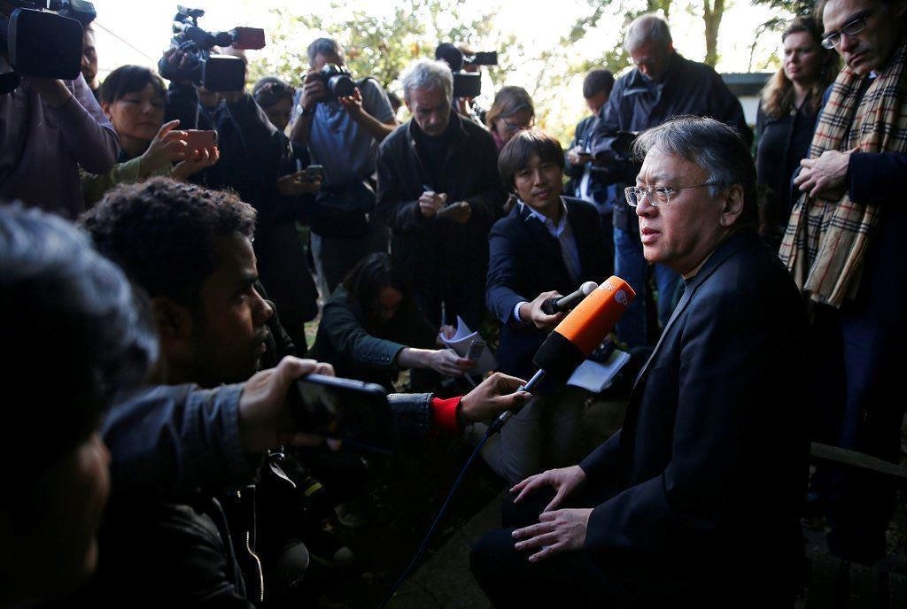 Picture of British novelist Ishiguro wins Nobel Literature Prize