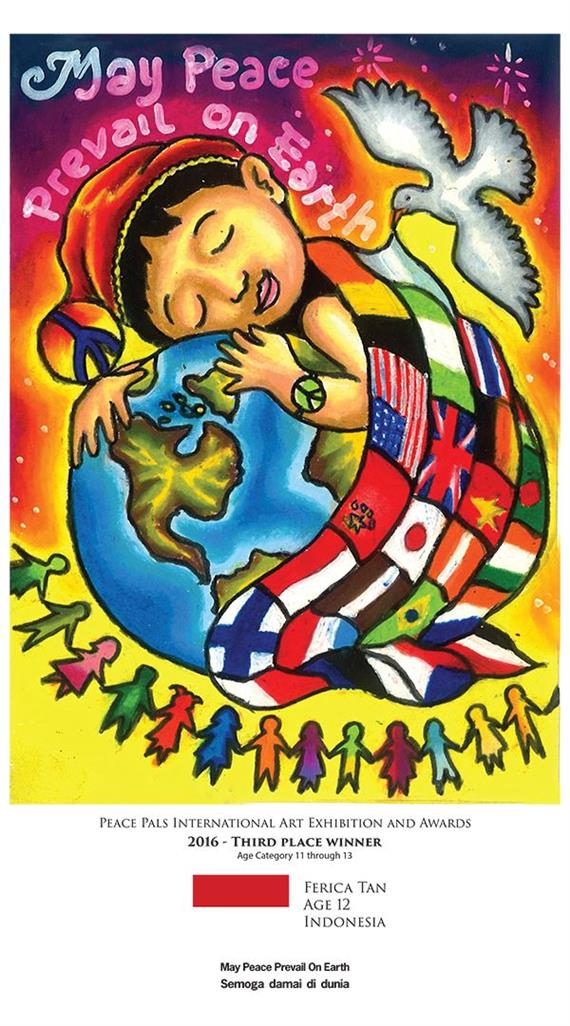 Picture of May Peace Prevail on Earth 2016 by Ferica Tan