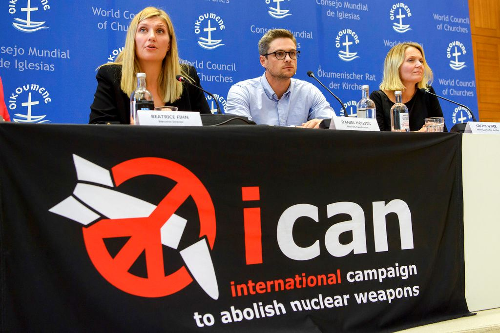 Picture of Group opposing nuclear weapons wins Nobel peace prize