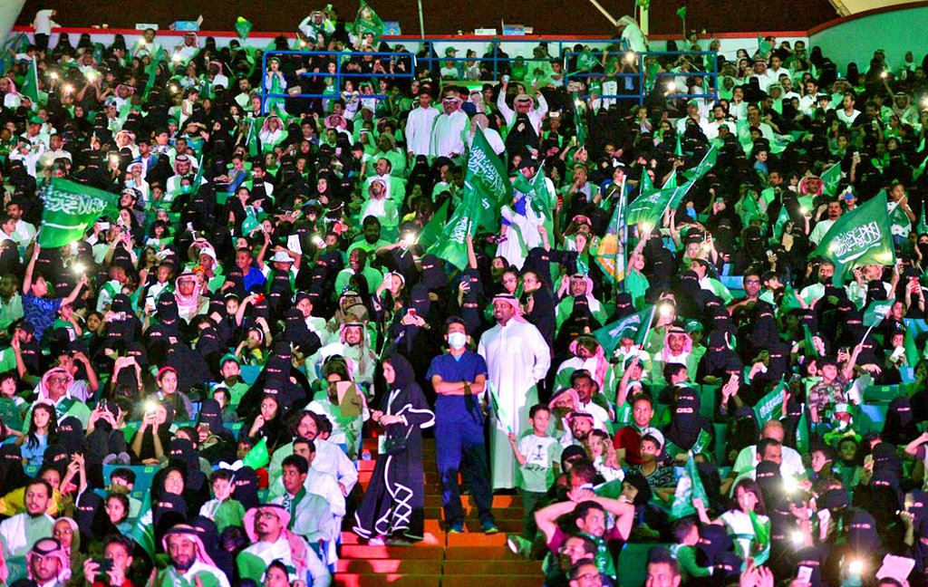 Picture of Saudi women to be allowed into sports stadiums next year
