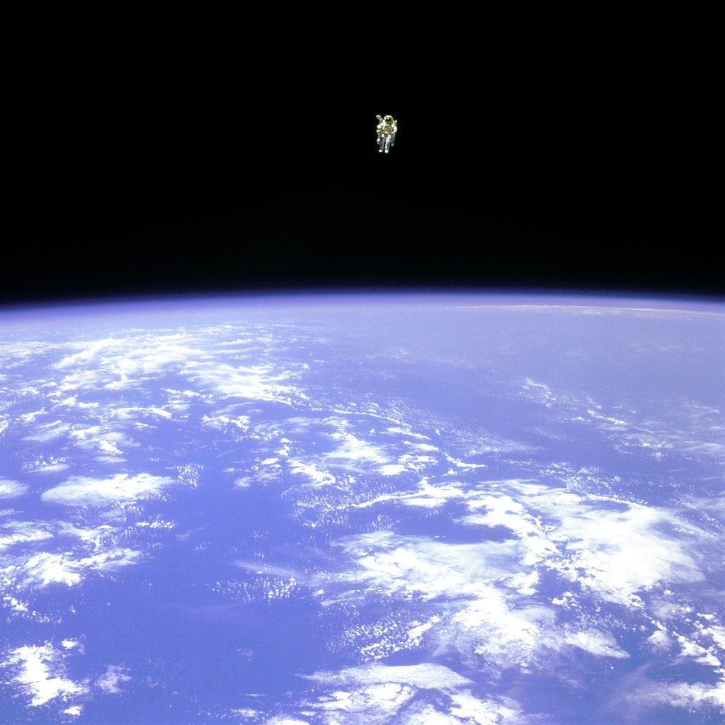 Picture of NASA astronaut, 1st to fly untethered in space, dies at 80