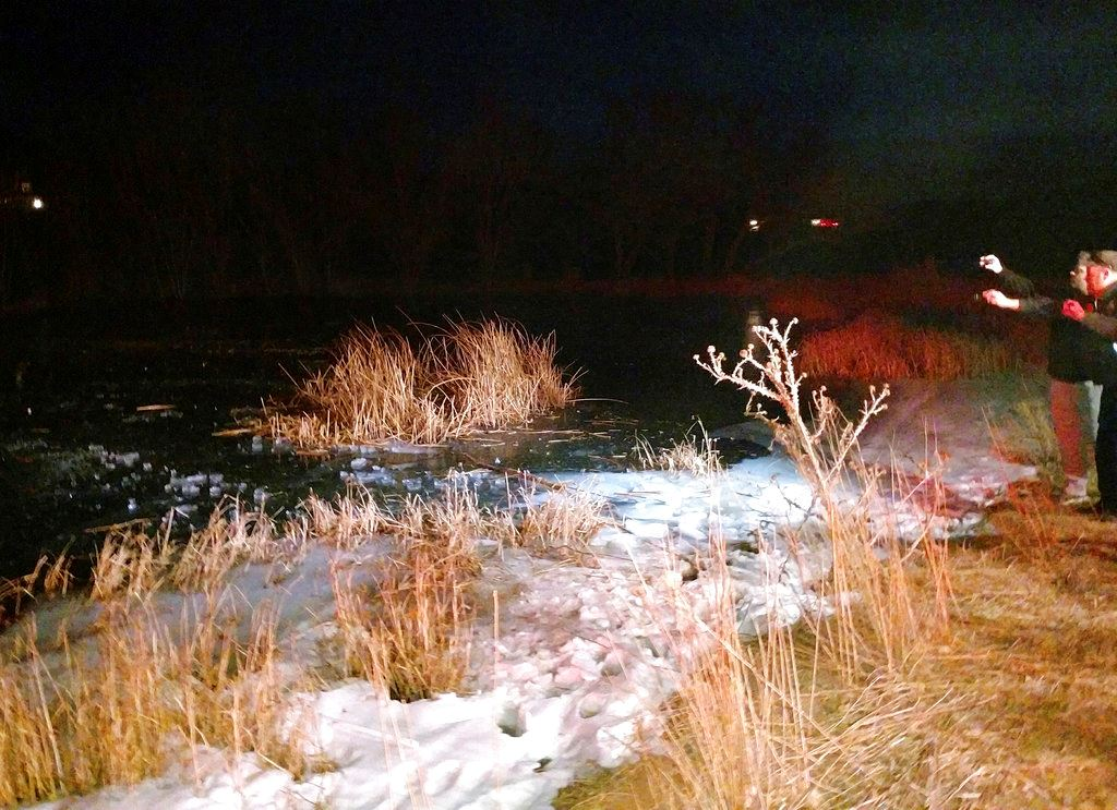 Picture of Deputy recalls breaking through frozen pond to pull out boy