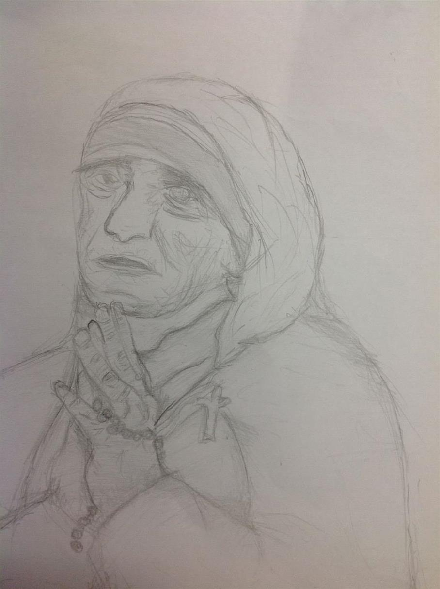 Picture of Mother Teresa by Ji Won from Indonesia