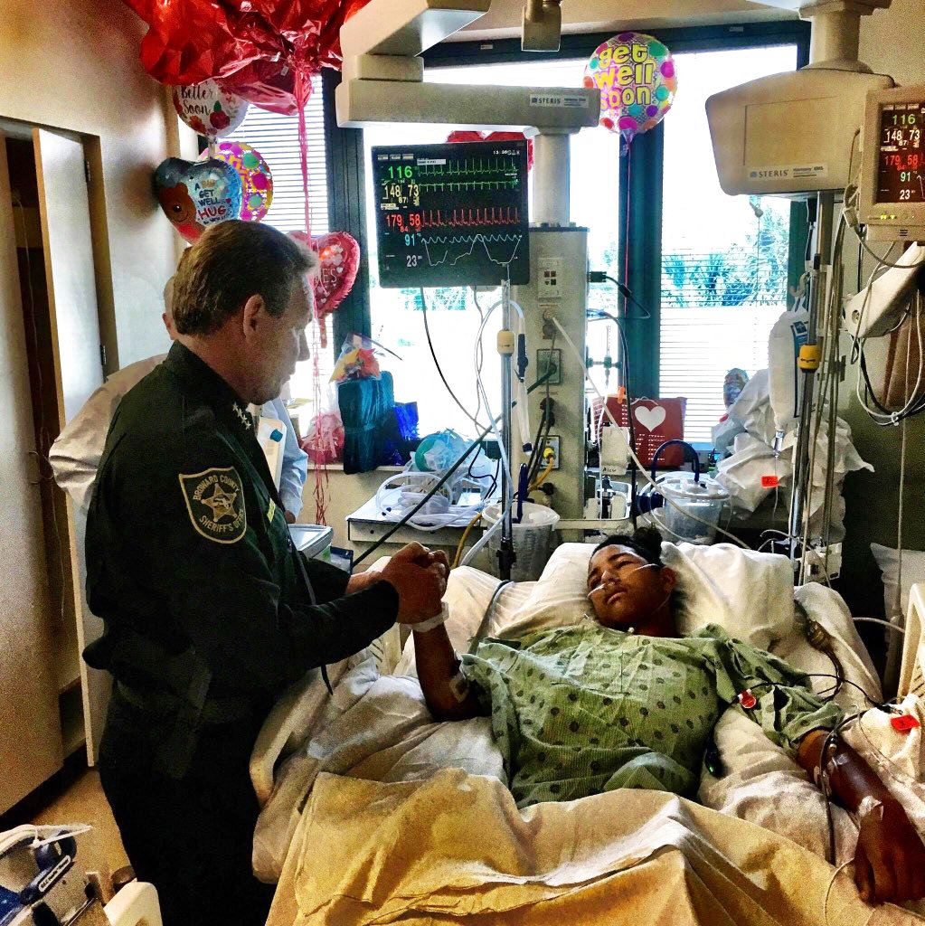 Picture of 15-year-old shot 5 times protecting classmates from gunfire