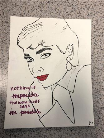 Picture of Audrey Hepburn by Gracie Scrogham