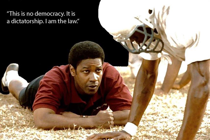 Picture of I am the law, based on Remember the Titans with Denzel Washington, by Dalton Moore