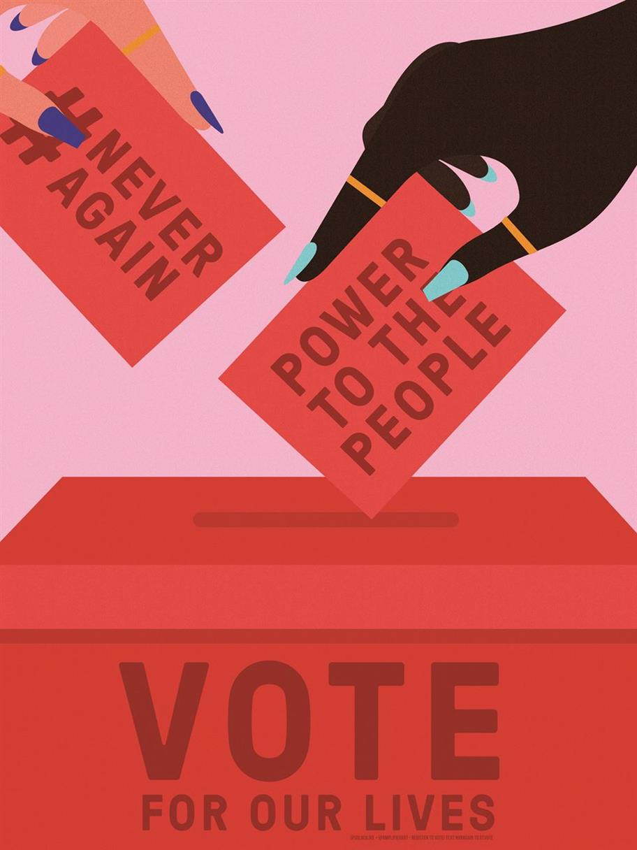 Picture of Vote for Our Lives by Laci Jordan for Amplifier