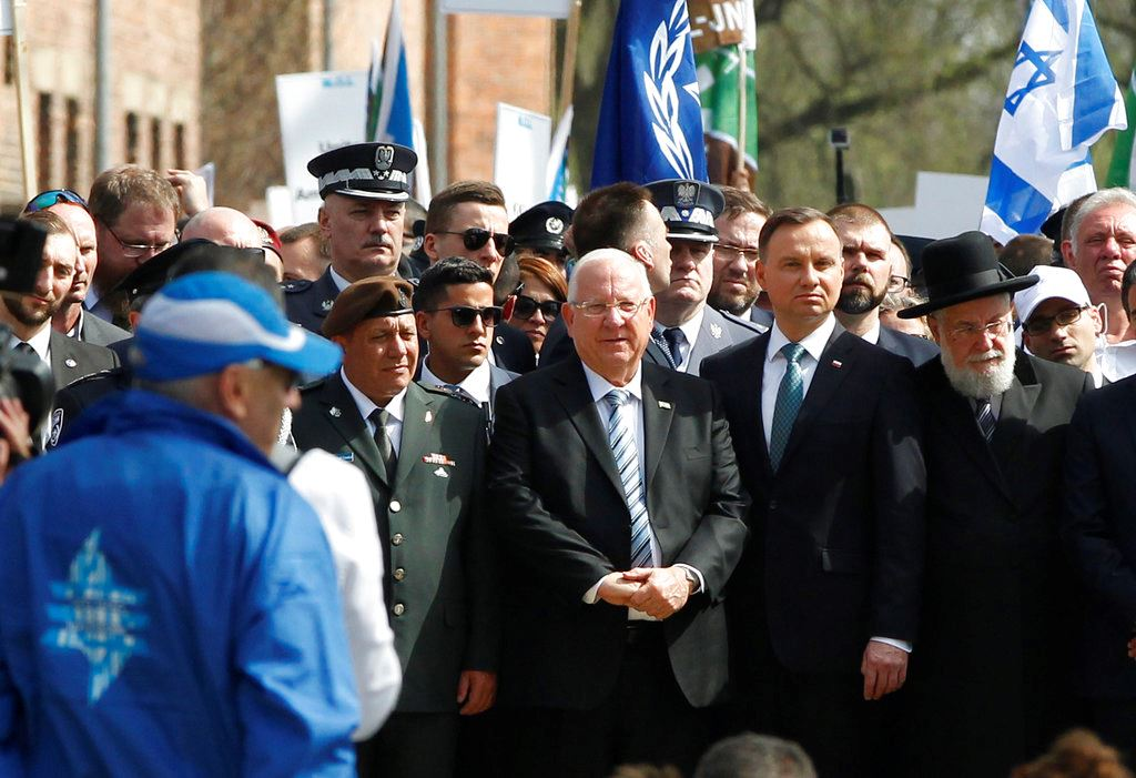 Picture of Israeli, Polish presidents join Holocaust remembrance march