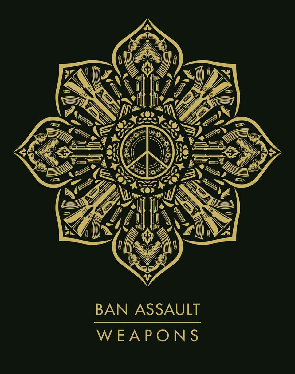 Picture of Gun Mandala-Ban Assault Weapons by Shepard Fairey
