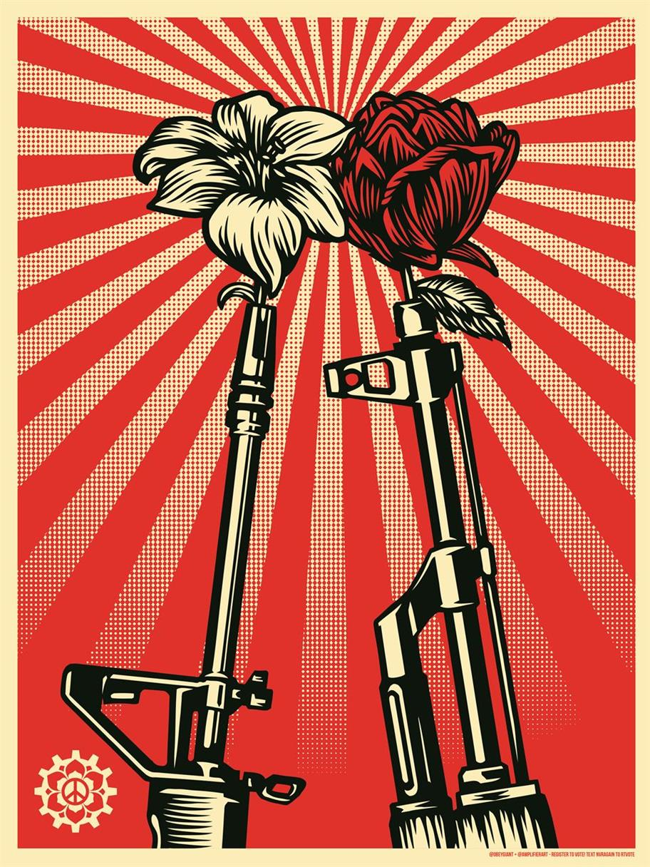 Picture of Guns and Roses by Shepard Fairey for Amplifier