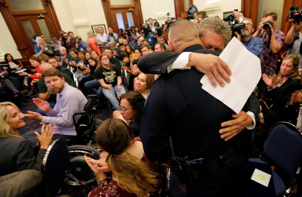Picture of Shooting survivors share their stories with Texas governor