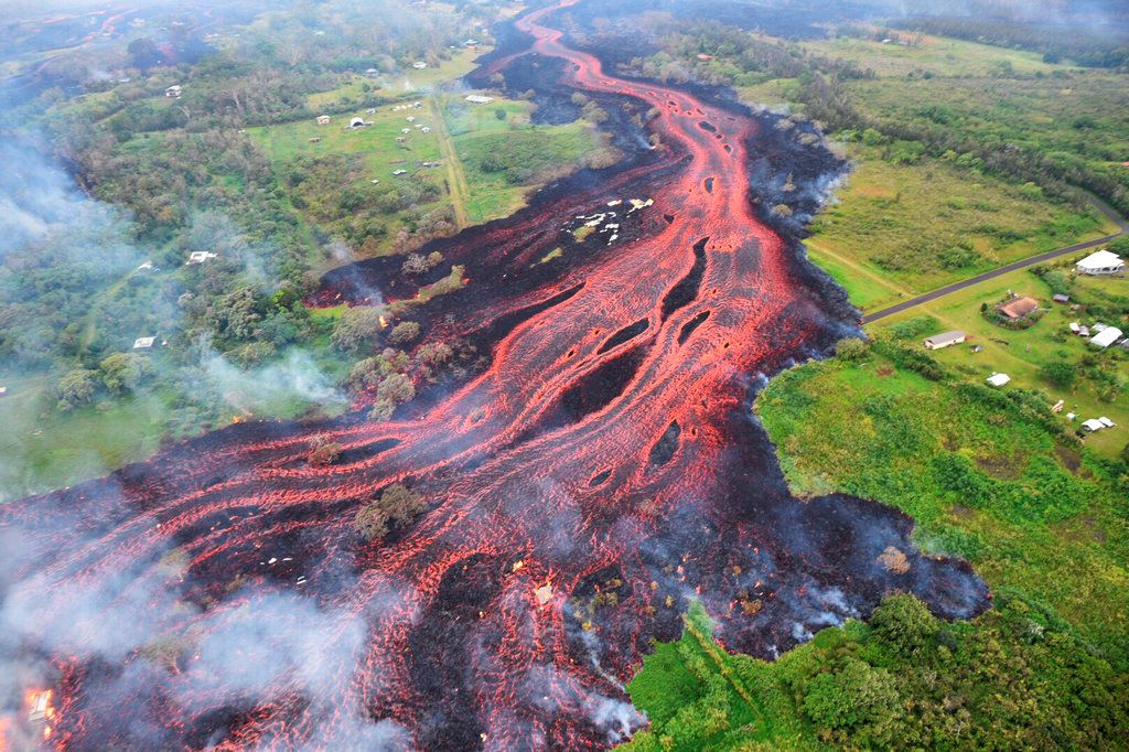 Picture of Scientists reap data from Hawaii's rumbling Kilauea volcano