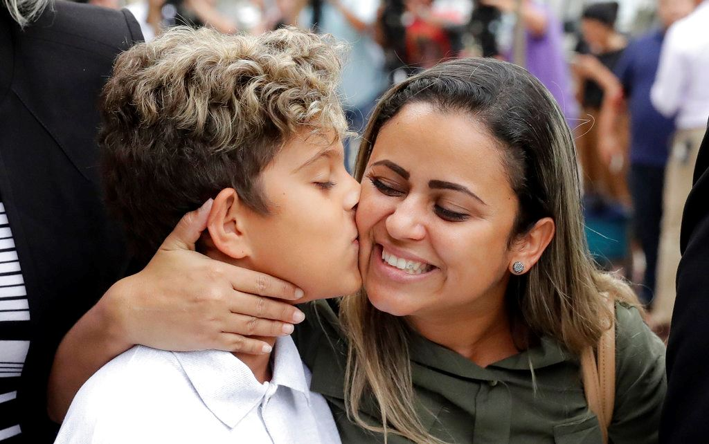 Picture of Mother, son separated at US border reunited in Chicago
