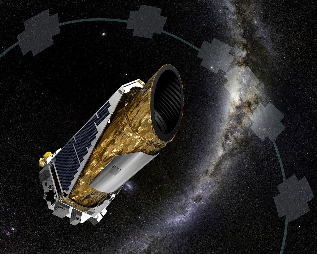 Picture of NASA's Kepler Telescope almost out of fuel, forced to nap