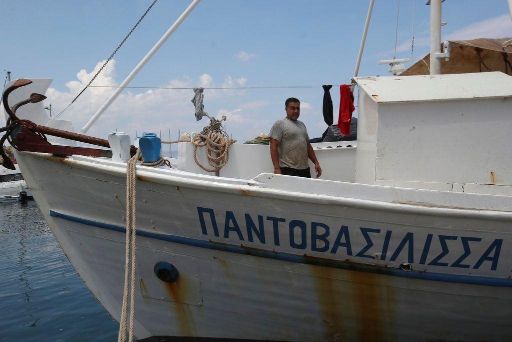Picture of Cries for help at sea: Fisherman describes Greek fire rescue