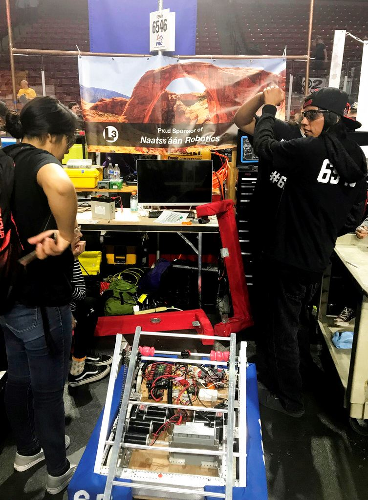 Picture of Navajo robotics team heads to international competition