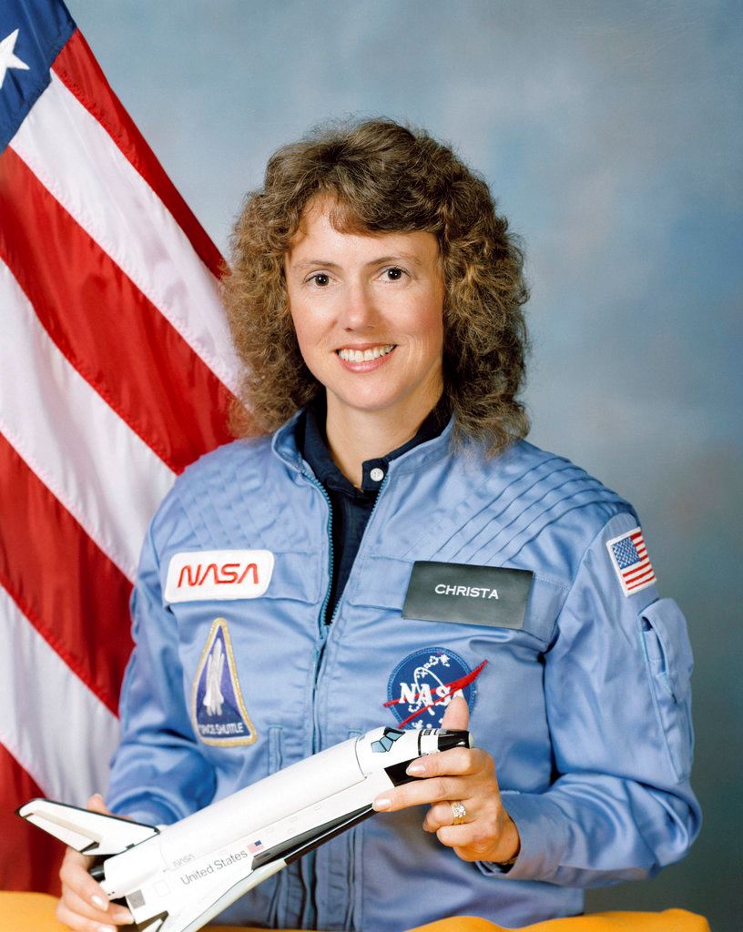 Picture of 1st of Christa McAuliffe's lost lessons released from space