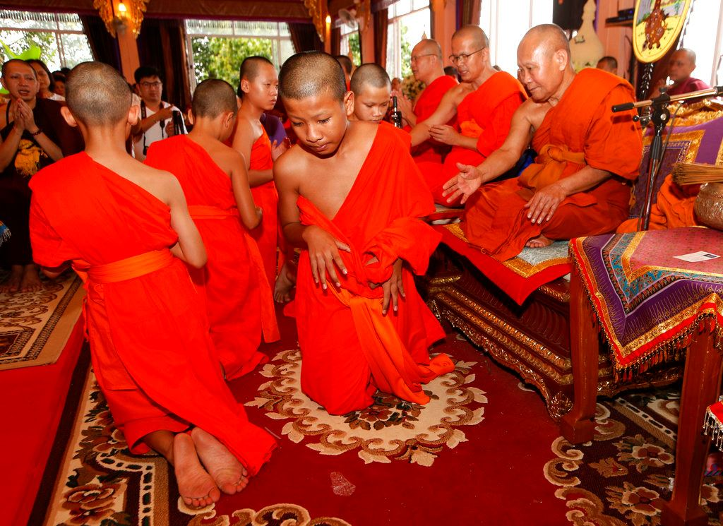 Picture of Thailand's rescued cave boys end stay at Buddhist temple