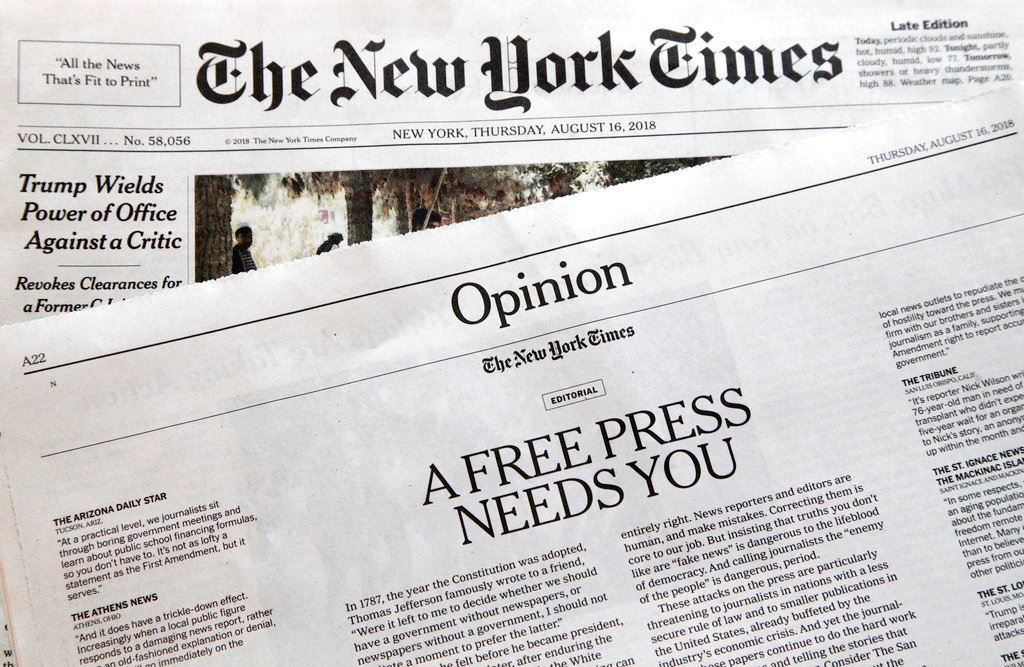 Picture of US newspapers to Trump: We're not enemies of the people