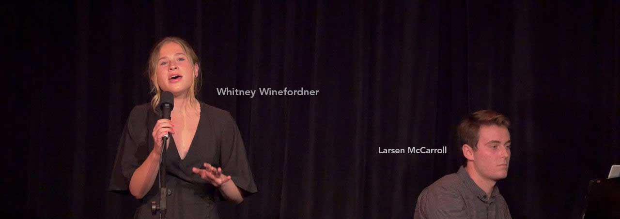 Whitney Winefordner and Larsen McCarroll