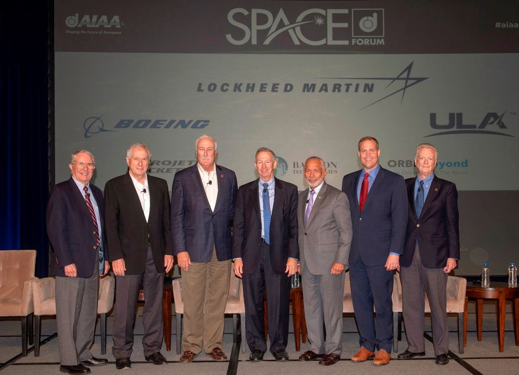 Picture of Past NASA chiefs gather for space agency's 60th anniversary
