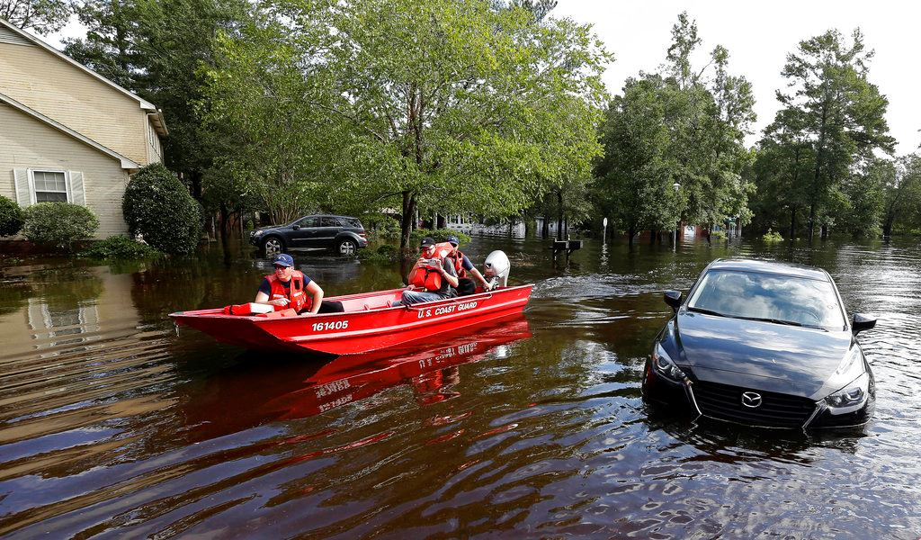 Picture of Florence flooding spreads as storm heads northeast