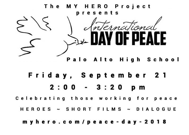 Picture of MY HERO PEACE DAY CELEBRATION AT PALO ALTO HIGH