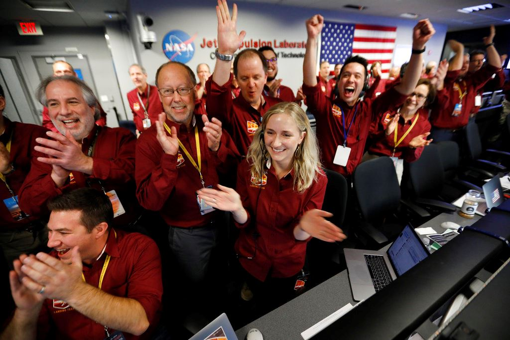 Picture of 'Flawless': NASA craft lands on Mars after perilous journey