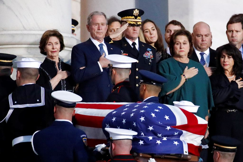 Picture of At Capitol, Bush saluted as 'gentle soul,' 'great man'