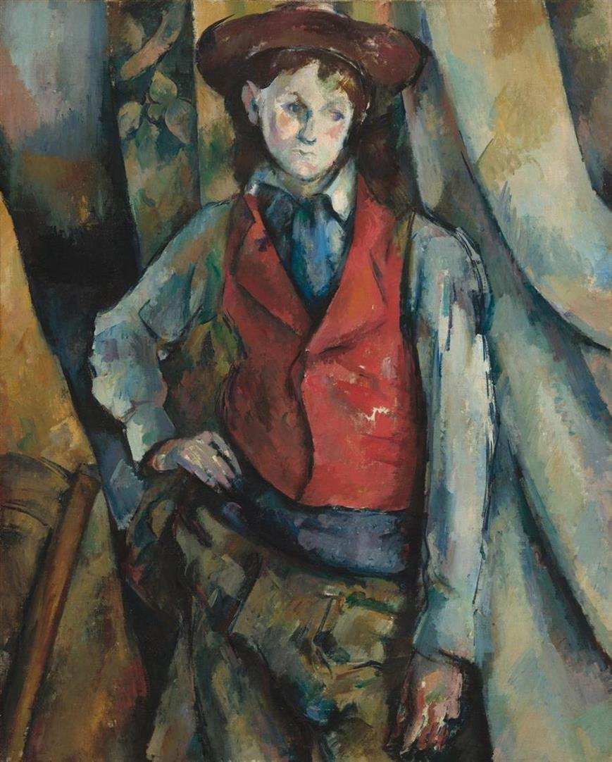 Picture of Boy in a Red Waistcoat by Paul Cezanne