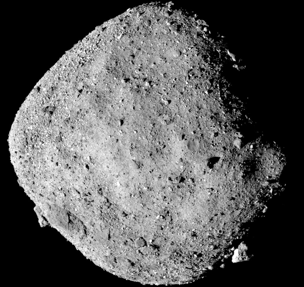 Picture of NASA's first look: Tiny asteroid is studded with boulders