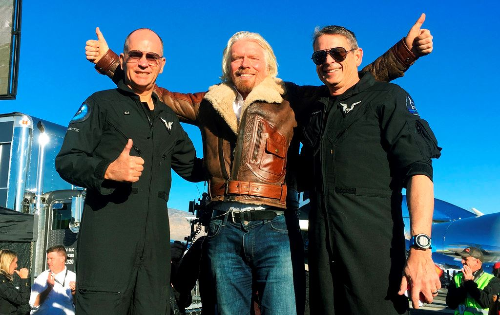 Picture of Virgin Galactic tourism rocket ship reaches space in test