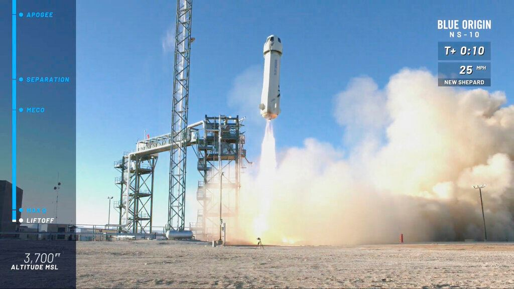 Picture of Blue Origin shoots NASA experiments into space in test