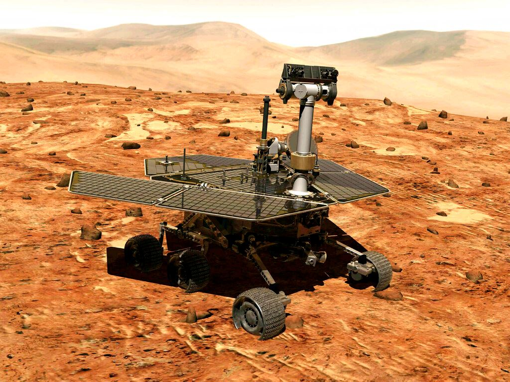 Picture of NASA's storm-silenced rover marks 15th anniversary on Mars