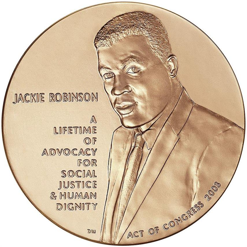 Picture of Jackie Robinson Congressional Gold Medal