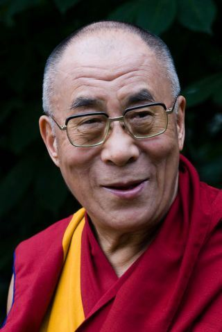 Picture of Tenzin Gyatso, the 14th Dalai Lama
