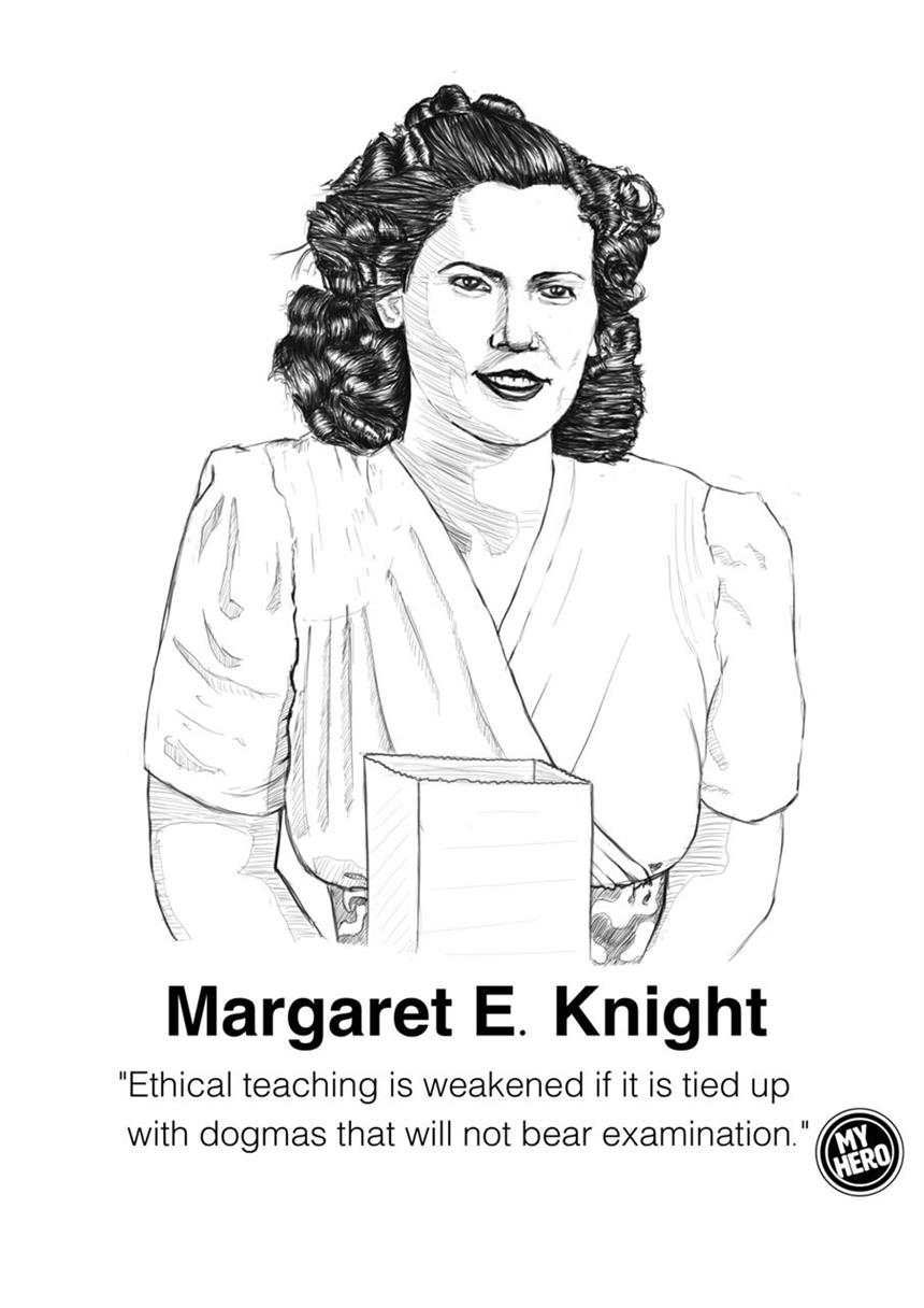 Picture of Portrait of Margaret E Knight