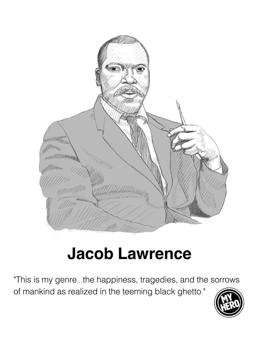 Picture of Portrait of Jacob Lawrence