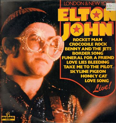 Elton John Live LP. Museum of Hartlepool [No restrictions] via Wikimedia Commons