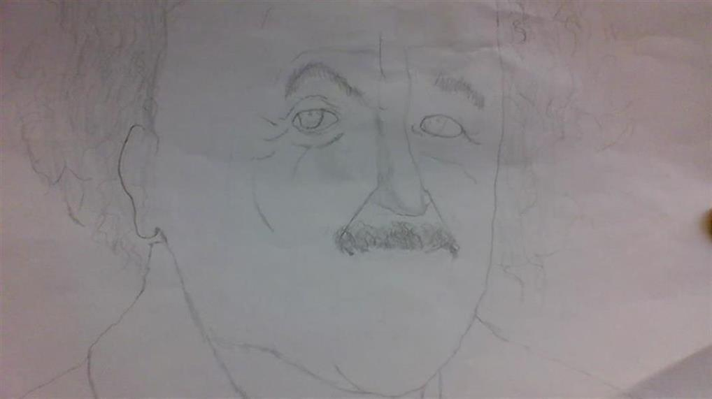 Picture of Albert Einstein by Corwin Kandis