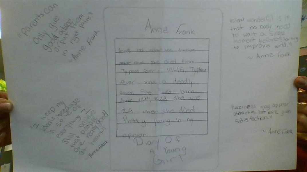 Picture of Anne Frank - Diary Work by Kimberly Koehler